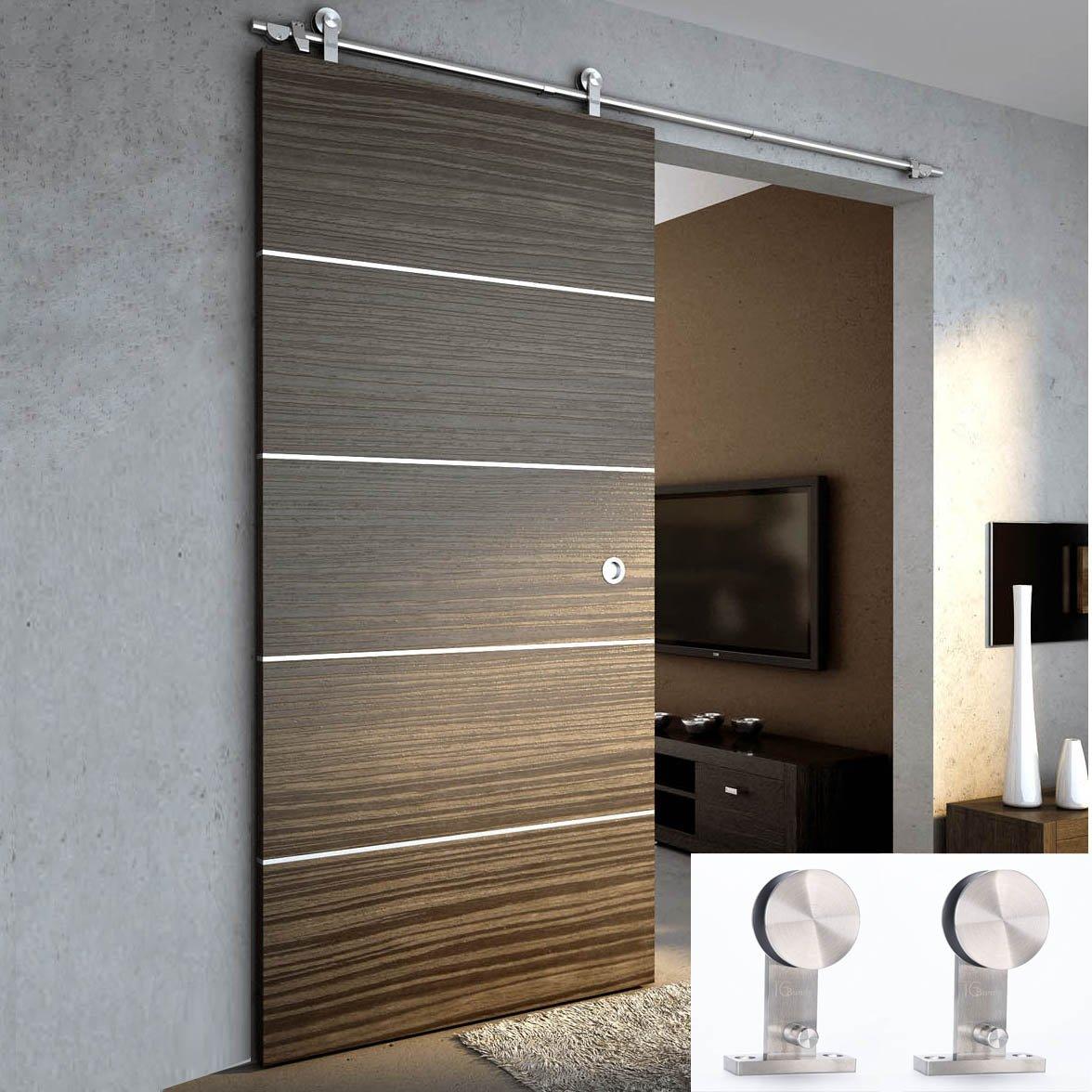 Modern Interior Sliding Doors Amazoncom Tcbunny 6 Ft 7 Inch Modern Stainless Steel Interior