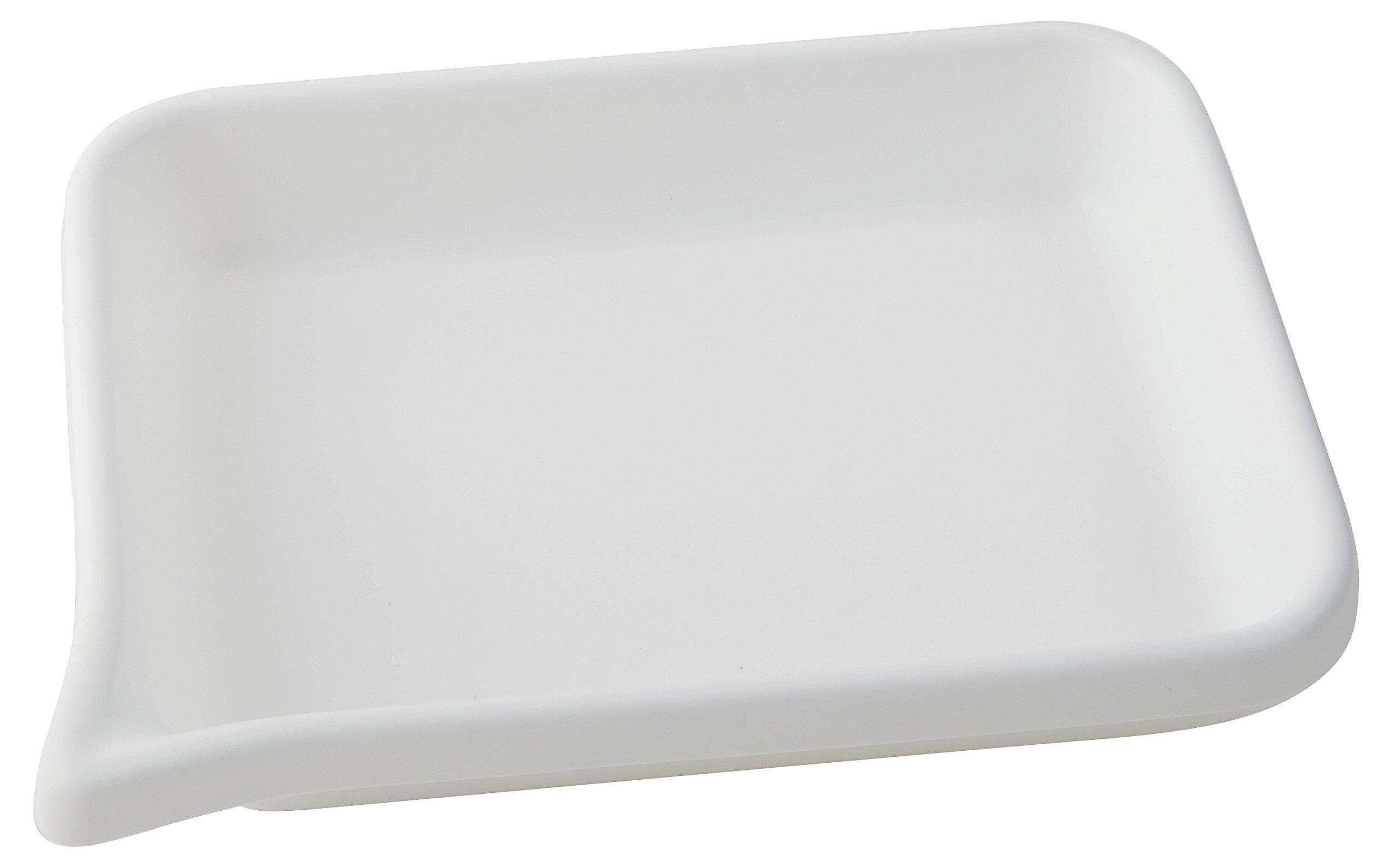 Dynalon 409204 HDPE Developing Flat Bottom Tray, 8.875'' L x 6.875'' W x 1.5'' H
