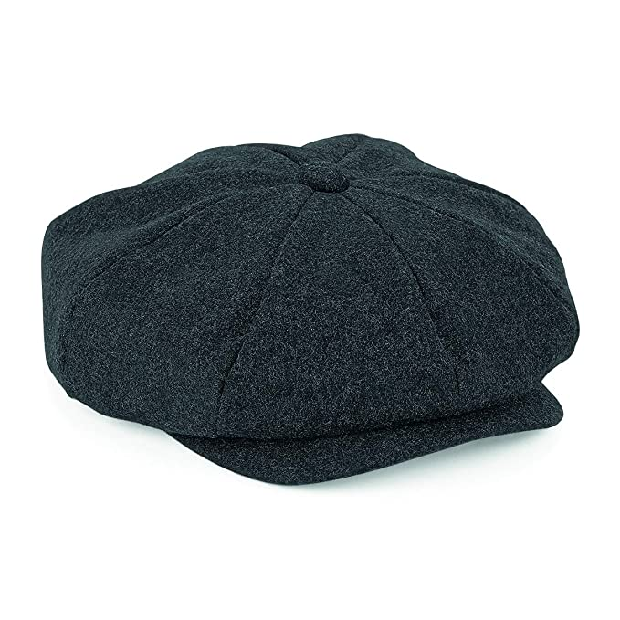 1920s Fashion for Men Flat Cap with Peak Shelby Baker Boy Newsboy Herringbone Cloth Cap Hat  AT vintagedancer.com