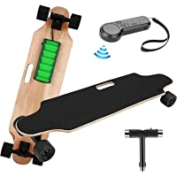 elifine Youth Electric Skateboard Electric Longboard with Wireless Remote Control 7 Layers Maple Waterproof E-Skateboard…