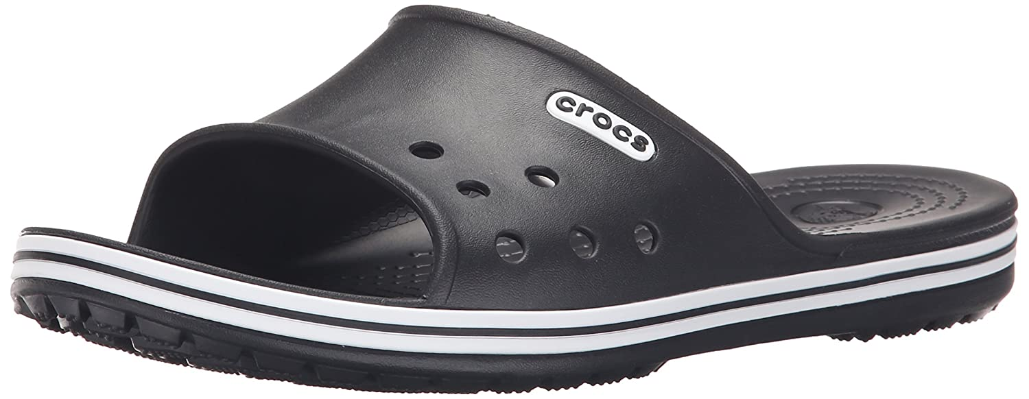 402ca00ff crocs Unisex Crocband LoPro Slide Black Rubber Flip-Flops and House  Slippers - M8 W10  Buy Online at Low Prices in India - Amazon.in