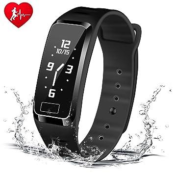 Pulsera inteligente con 4 tipos de reloj de tiempo -HOMESTEC S4 Puls Monitor de presión arterial ...