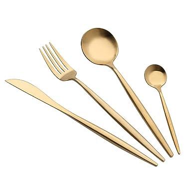 komise alta calidad Portugal estilo inoxidable cubiertos tenedor cuchara cubiertos vajilla 4 pcs sets