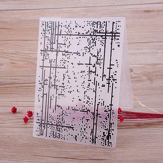 Dekorationen aus Papier 03 Zhuotop Kunststoff-Pr/ägeschablone f/ür DIY-Papierpr/äger