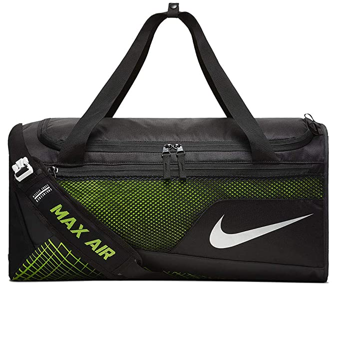 724def130deb Amazon.com  Nike Mens Vapor Max Air Medium Training Duffel Bag BA5475-010 -  Black Volt  Shoes