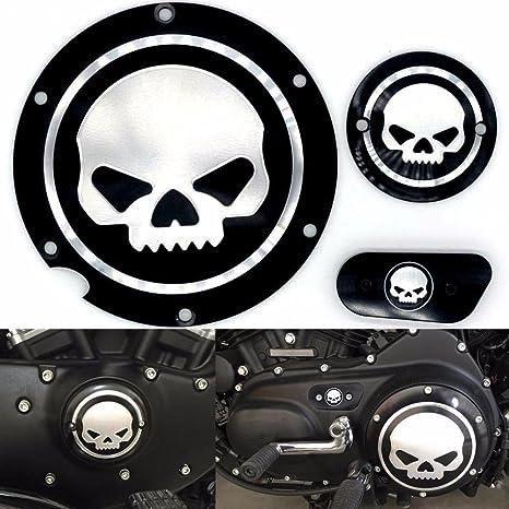 7ad058bbf7d90 Motocicleta Cromo negro Timing Accesorios del motor Cubierta del  temporizador Derby para Harley Sportster Iron XL