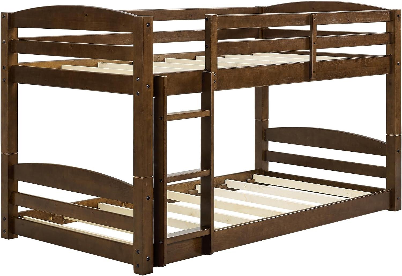 Dorel Living Sierra Twin Bunk Bed, Mocha
