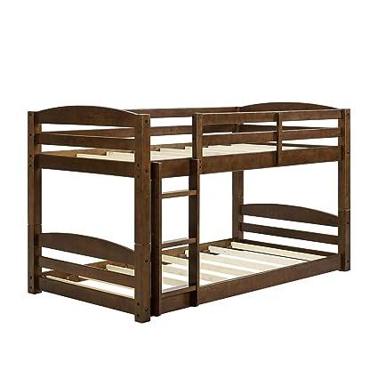Amazon Com Dorel Living Sierra Twin Bunk Bed Mocha Kitchen Dining