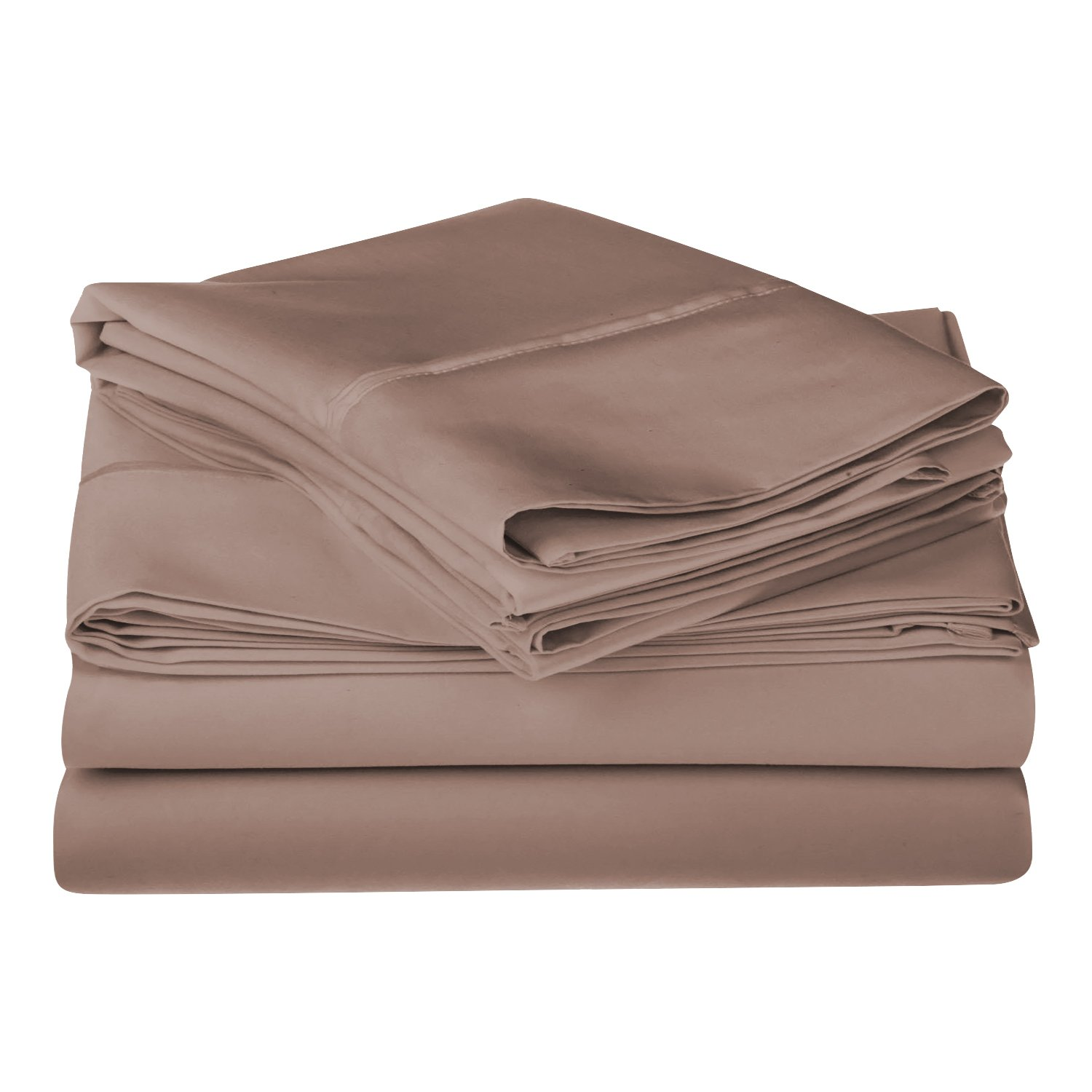 (Queen, Teal) 1200 Thread Count 100% Premium Long-Staple Combed Cotton, Single Ply, Queen Bed Sheet Set, Solid, Taupe B005TPMCX4 クイーン|トープ単色 トープ単色 クイーン