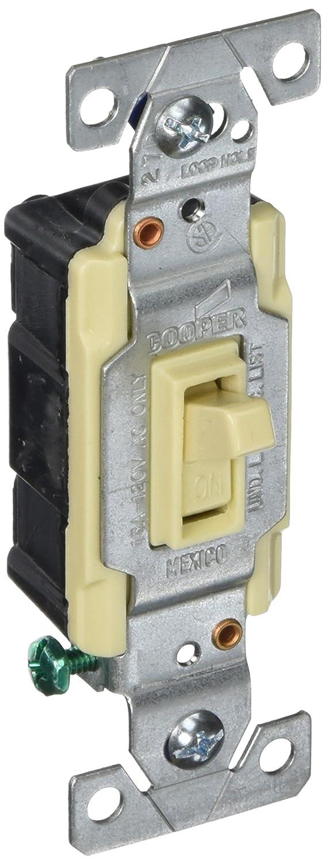 Eaton C1301-7LTW-L 15-Amp, 120-Volt Side and Push Wire Single-Pole ...