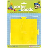 """Perler Bead Paquete de 2 Paneles Cuadrados Perforados14 cm x 14 cm (5.5"""" x 5.5"""")"""