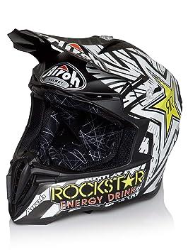 Airoh Casco Mx Rockstar Twist Negro (Xl, Negro)