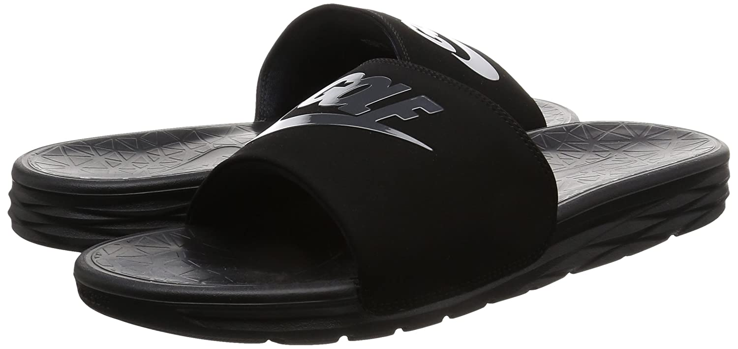 detailed look b422a b4747 Amazon.com  Nike Benassi Solarsoft 2 Mens Golf Slides  Baske