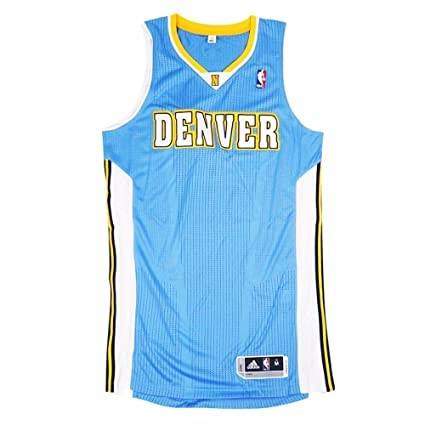 d396774eebe adidas Denver Nuggets NBA Light Blue Official Authentic On-Court Revolution  30 Away Road Jersey