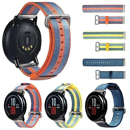 Yushiwu para Xiaomi HUAMI AMAZFIT Smart Watch Correa Lona ...