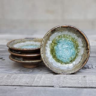 product image for Geode Ring Dish in Copper, Individual Geode Ring Dish, Fused Glass Dish, Trinket Dish, Soap Dish, Crackle Glass, Candle Holder, Dock 6 Pottery, Kerry Brooks Pottery