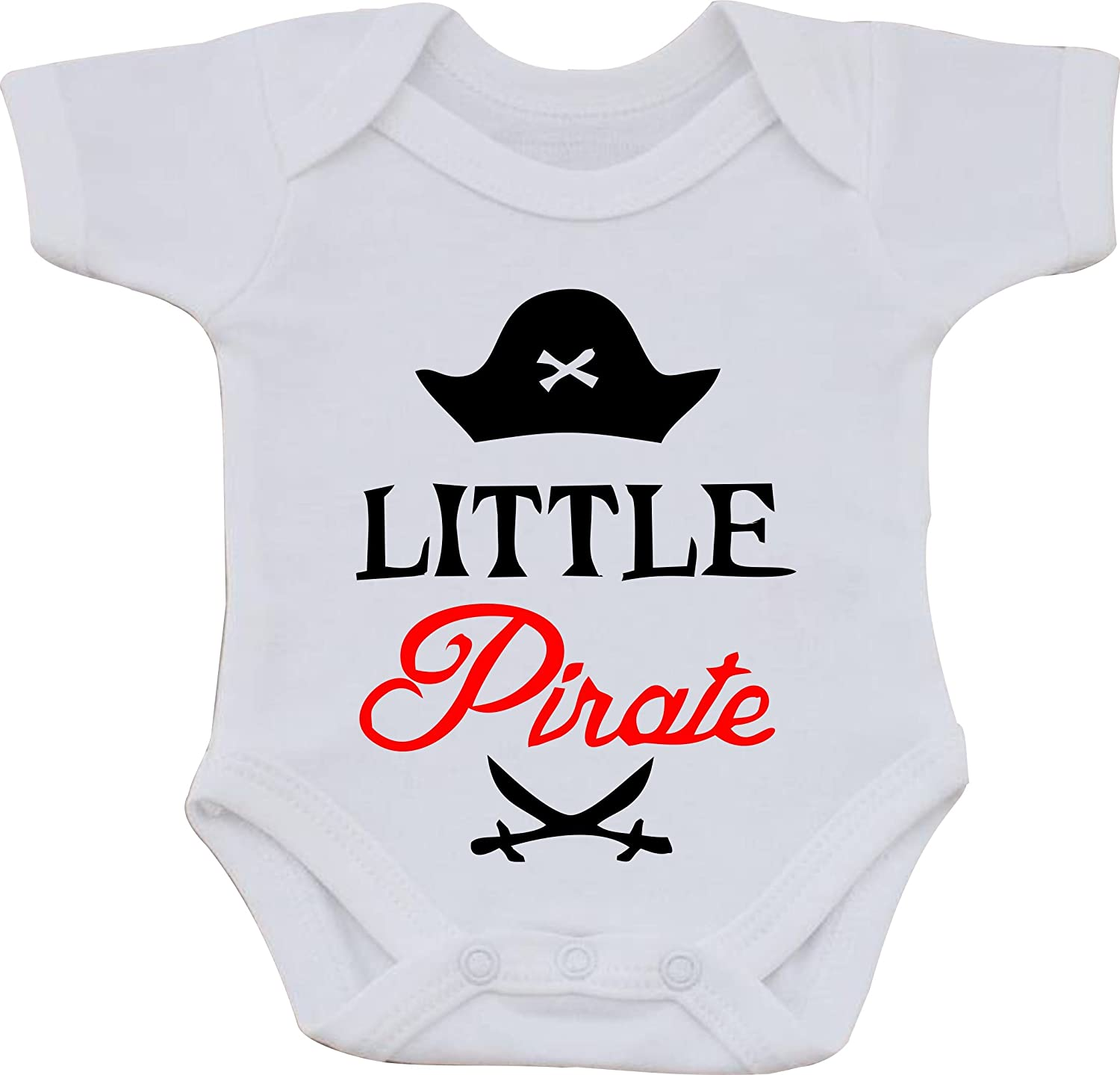 magic moments Little Pirate Full Color Funny Sublimation White Baby Vest OR Bib