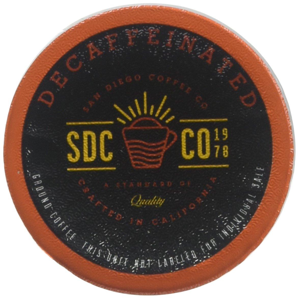 San Diego Coffee Decaf French Roast, Dark Roast, Single Serve Cups, 100 Count