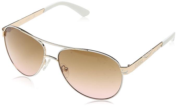 Guess GF0282_28F, Gafas de Sol para Mujer, (Rosa/Bianco), 61