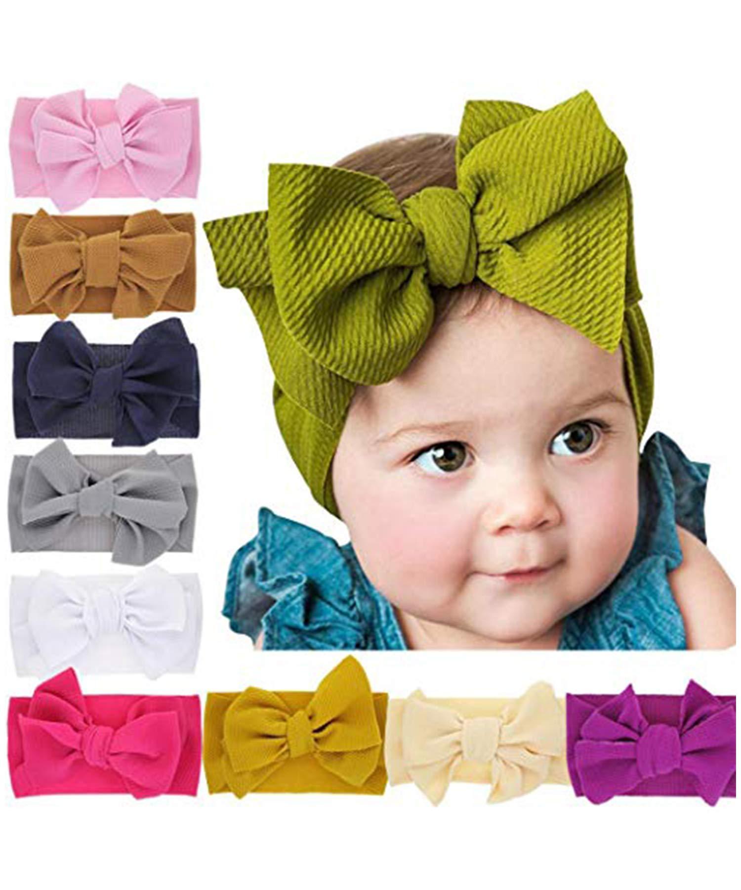 Yirind 1Pc Kids Cute Bow Headwear Soft High Elastic Baby Headband Hair Accessories