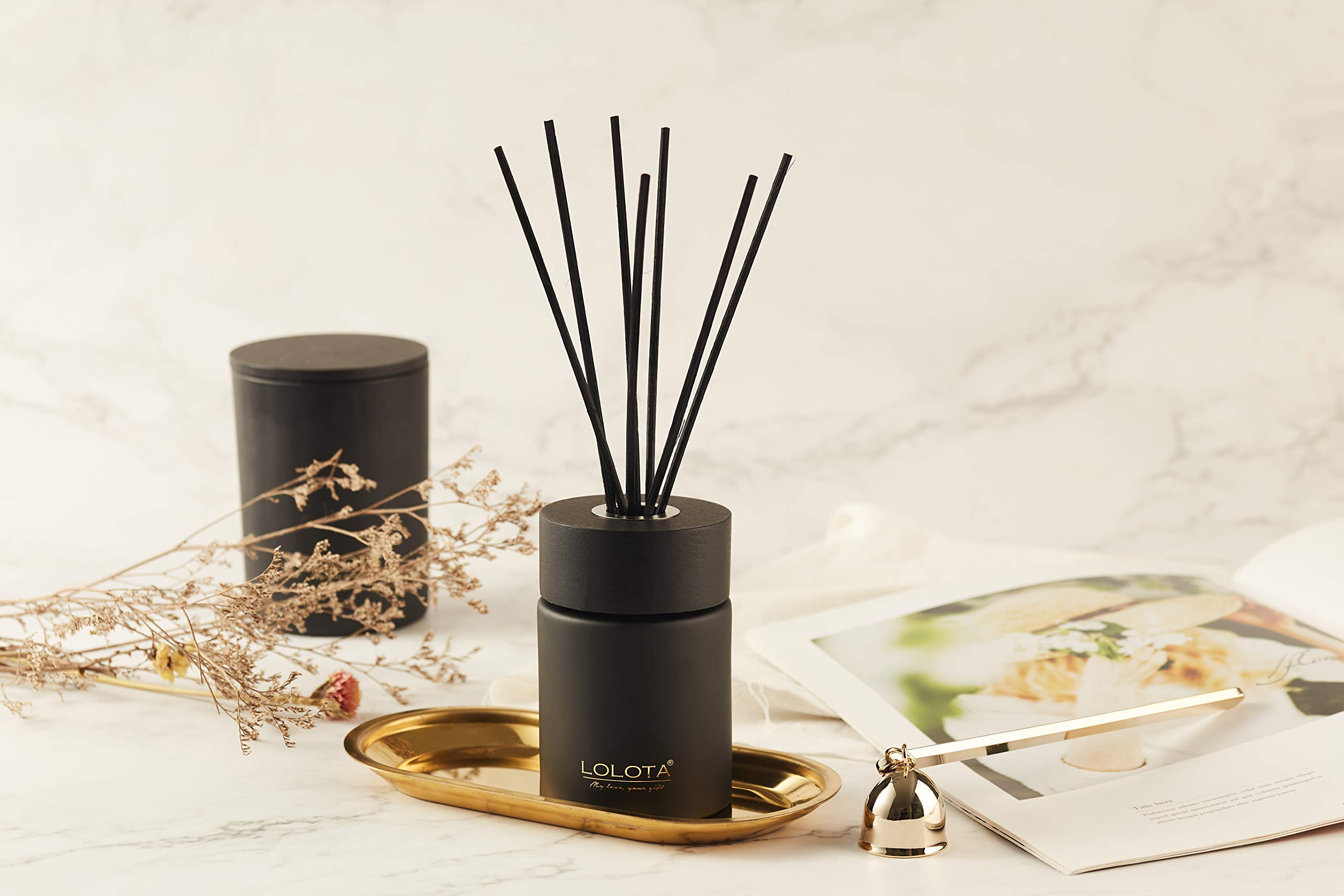 LALATA Fragrance Reed Diffuser Essential Oil Coconut Mango Amber Scent in Gift Box,Natural Scented Long Lasting Fragrance Oil for Aromatherapy and Air Freshener by LALATA (Image #4)