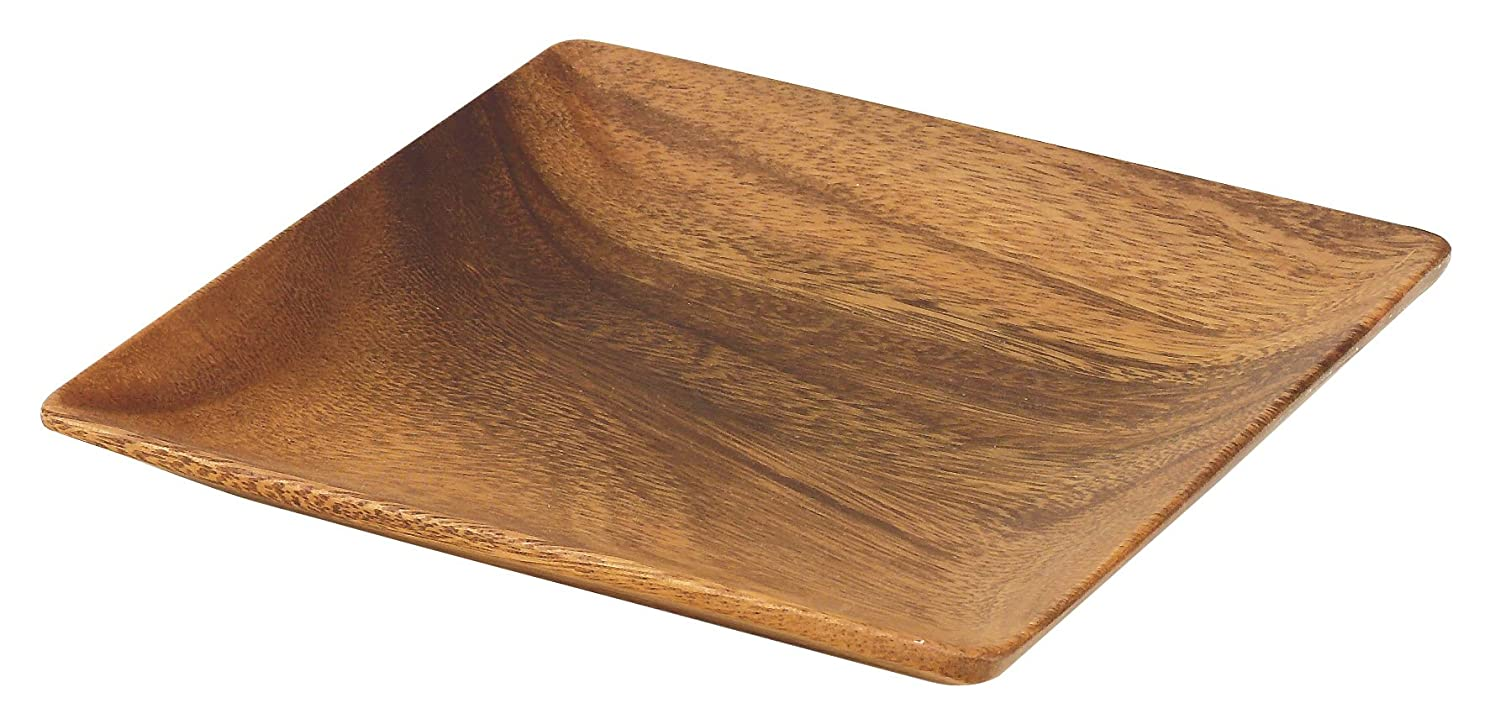 Pacific Merchants K0051 Acaciaware 7-Inch Acacia Wood Square Plate ca kitchen PACVN