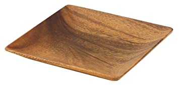 Amazon.com | Pacific Merchants Acaciaware 7-Inch Acacia Wood Square Plate Wood Tray Serving Bowls  sc 1 st  Amazon.com & Amazon.com | Pacific Merchants Acaciaware 7-Inch Acacia Wood Square ...