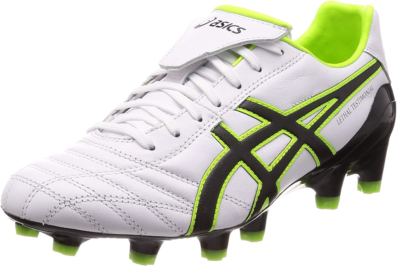 [アシックス] ラグビー サッカースパイク LETHAL TESTIMONIAL 4 IT メンズ ホワイト/ブラック 26.0 cm