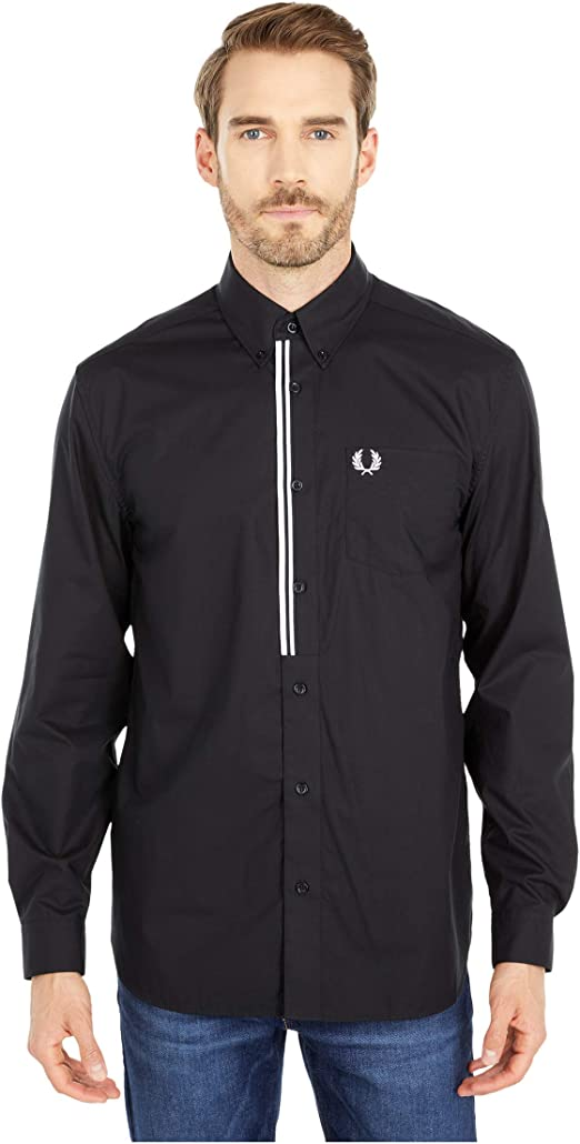 Fred Perry Taped Placket Shirt Black LG: Amazon.es: Ropa y accesorios