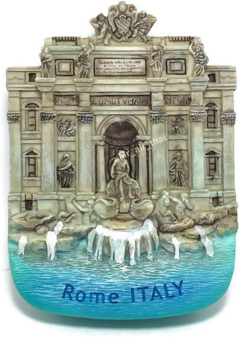 Roma Fontana Di Trivi Rome Italy Resin 3d Fridge Magnet SOUVENIR TOURIST GIFT