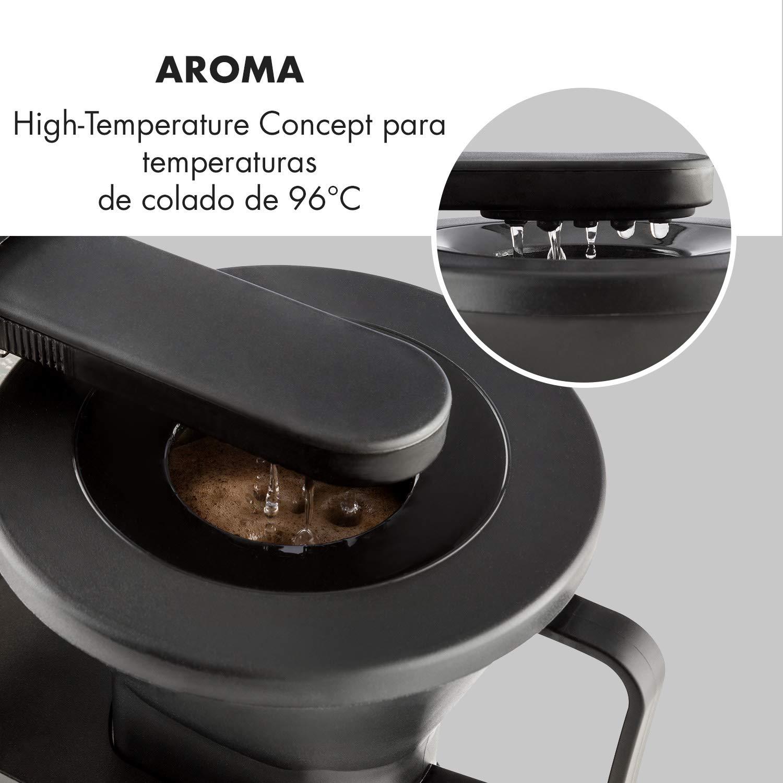 Klarstein GrandeGusto M/áquina de caf/é con jarra /• M/áquina de caf/é con filtro /• Cafetera /• 1690 W /• Dep/ósito de 1,3 litros /• Hasta 10 tazas /• Calienta hasta 96/°C /• Conserva el calor /&
