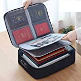 A4 Size Oxford Document Storage Bag ,Storage Credential Bag ,Important Document , File Pocket with Safe Code Lock for Laptop,