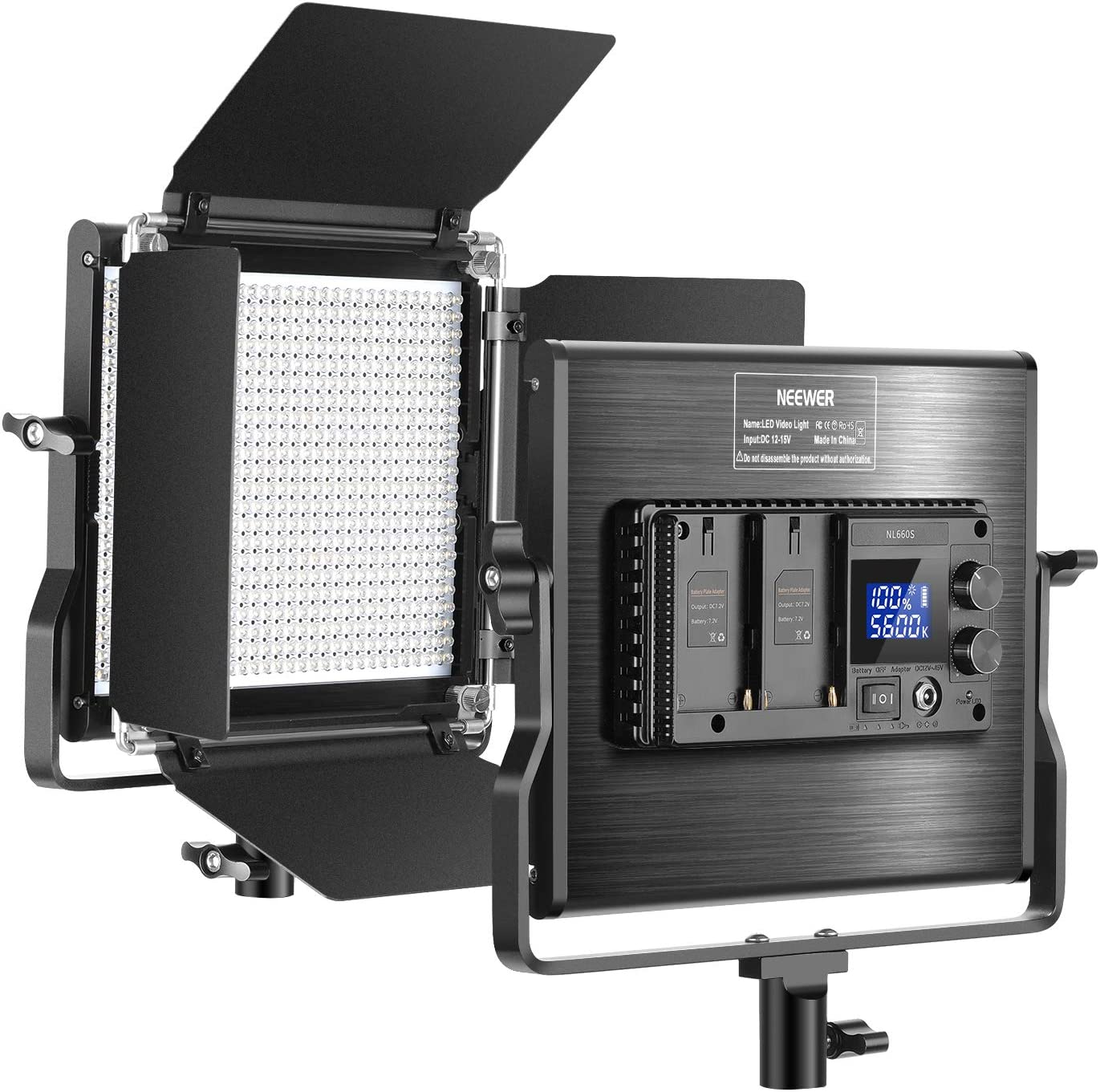 Panel Bicolor Regulable Con Luz De Video Led 660 Neewer