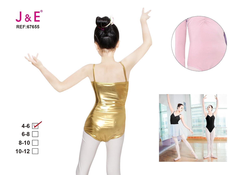 J/&E-Maillots Maillot de Danza modelo cl/ásico para ni/ña Estirable de Ballet Body de Manga Corta Gimnasia Leotardo