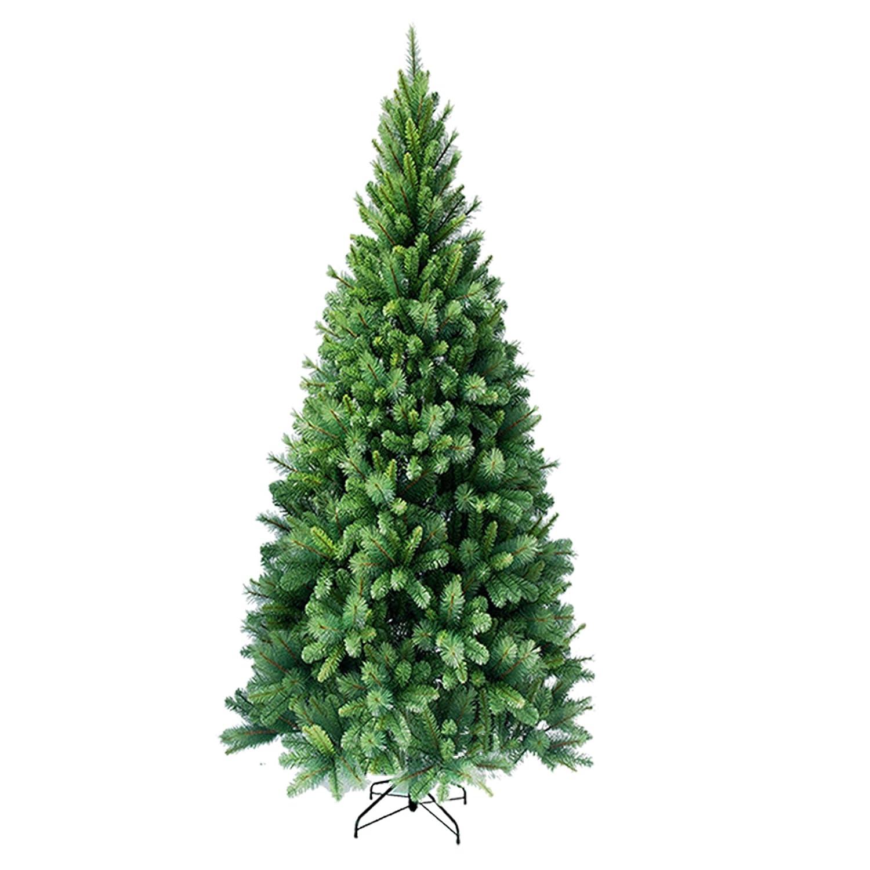 RS Trade SLIM 240 cm ca. 1160 Spitzen hochwertiger künstlicher Weihnachtsbaum mit Metallständer, Minutenschneller Aufbau mit Klappsystem, schwer entflammbar, HXTS 1101
