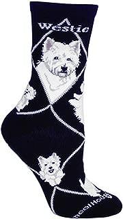 product image for Wheel House Designs Westie Argyle Socks (Shoe size 9-12)