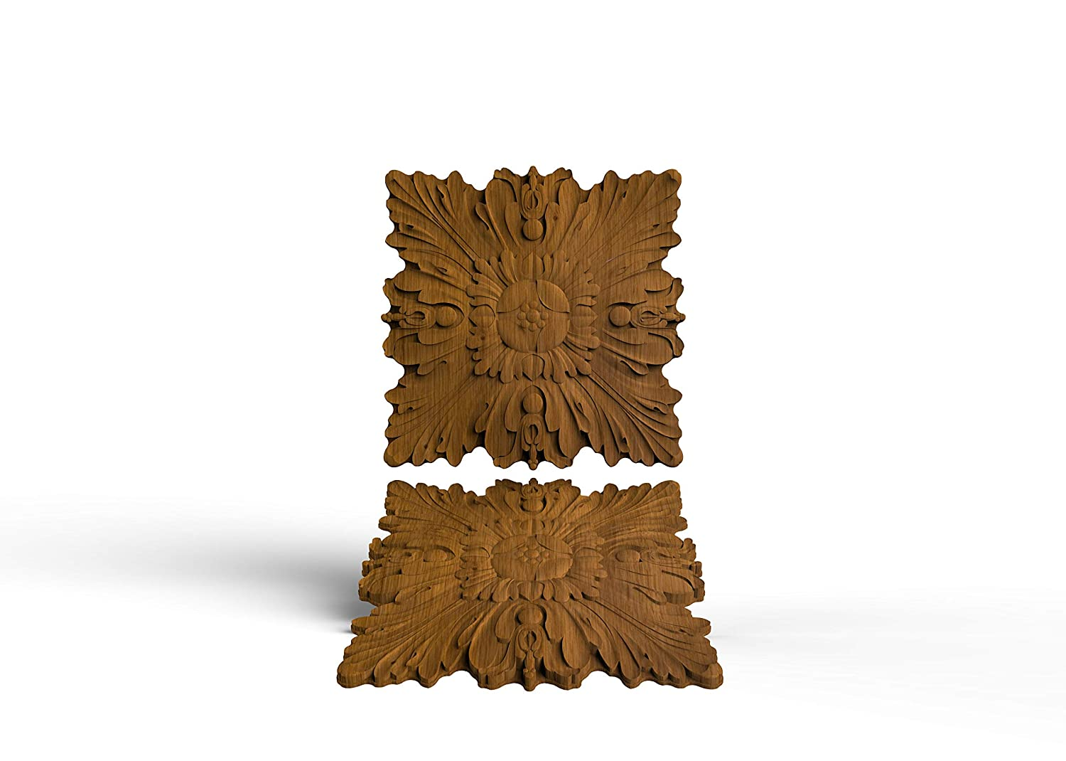 Universal wood carved corner onlay applique unpainted price from