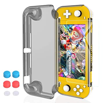 HEYSTOP Funda para Nintendo Switch Lite, Carcasa Nintendo Switch Lite con Protector de Pantalla y 6 Agarres para el Pulgar para Nintendo Switch Lite ...