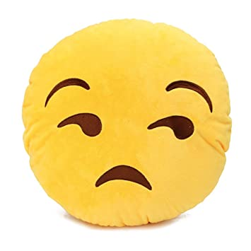 Grabadeal Lonely Smiley Cushion looking with Side Eyes