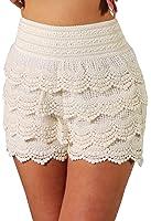 Tlv Styles Women's Elastic Layered Summer Shorts