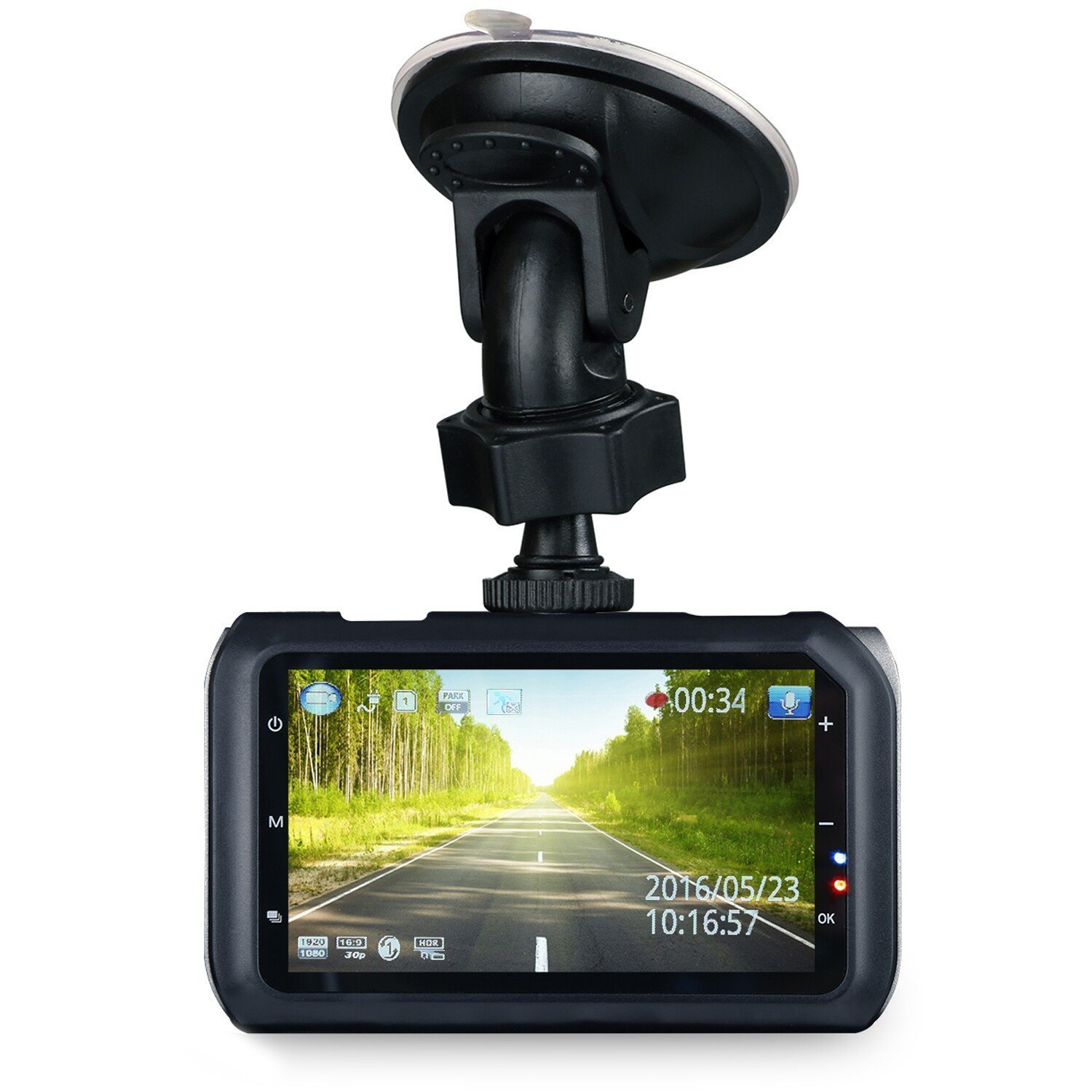 Z-Edge Z3 Car Dash Cam 3 inches 2K Dashboard Camera Recorder with 32GB SD Card, Ambarella Chip, HDR, Night Vision G-Sensor, Loop Recording, Parking Monitor
