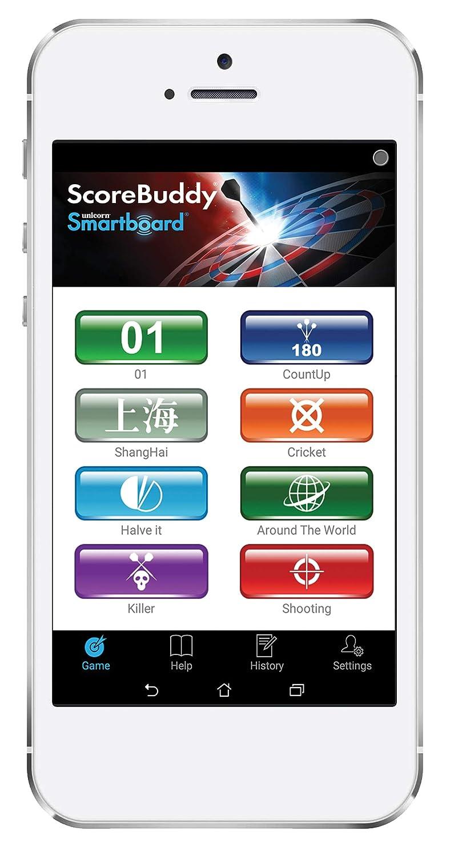 Bleu//Rouge//Blanc Unicorn SMARTBOARD Cible de fl/échettes Standard