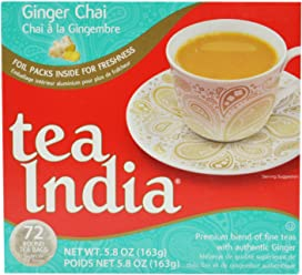 Tea India Ginger Chai Tea, 5.8 Ounce