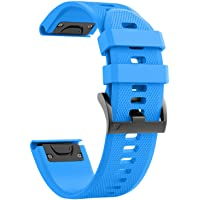 ANCOOL Compatible with Fenix 5X Band Easy Fit 26mm Width Soft Silicone Watch Bands Repalcement for Fenix 5X/Fenix 5X…