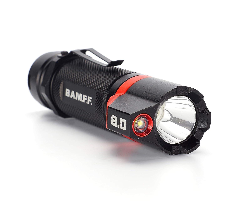 Striker Hand Tools 00341 BAMFF Taktische, 8.0-800 Lumen Taktische, BAMFF Aufladbare und Duale LED Taschenlampe 1a7f5a