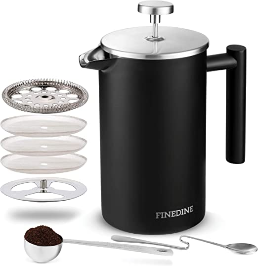 Amazon.com: Finedine - Cafetera francesa de acero inoxidable ...