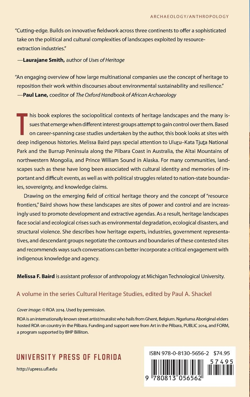 Critical Theory and the Anthropology of Heritage Landscapes (Cultural Heritage Studies): Melissa F. Baird: 9780813056562: Amazon.com: Books