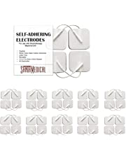 TENS Unit Pads Electrodes 2x2 40 Pcs Replacement Reusable Premium Pads Electrode Patches for Electrotherapy - Non Irritating Design
