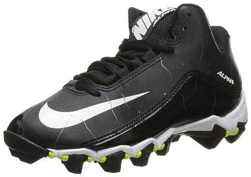 Nike Boy s Alpha Shark 2 3 4 Football Cleat Black Anthracite White Size 404da9c739