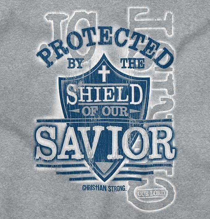b9d6be595aa5a Amazon.com  Protected Shield Savior Jesus Christian Sleeveless T Shirt   Clothing